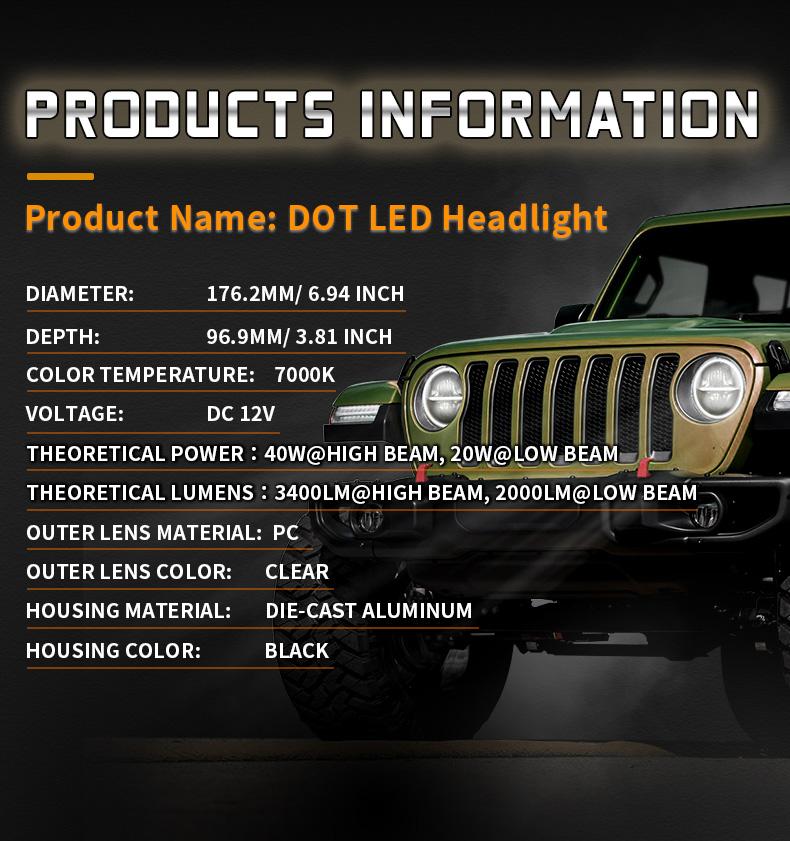Spécification des phares pour 2010 Jeep Wrangler