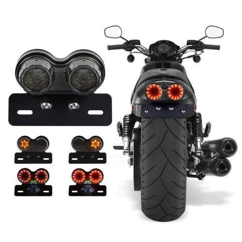 Lampe universelle de clignotant de frein arrière d'assemblage de feu arrière à LED de moto pour Harley Honda Yamaha Suzuki
