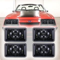 Ford 1979-1986 Mustang Led 헤드라이트 DOT 승인 1979-1986 Mustang 헤드라이트