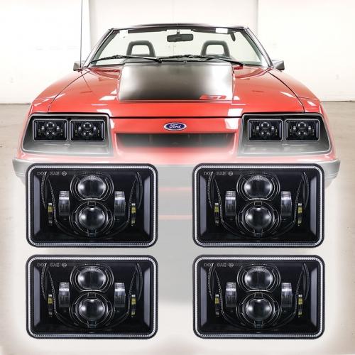 Ford 1979-1986 Taa za Taa za Mustang DOT Imeidhinishwa 1979-1986 Taa za Mustang