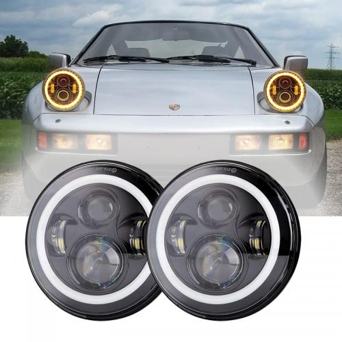 1978-1986 Porsche 928 Taa za Taa zilizoongoza inchi 7 Taa za boriti zilizofungwa